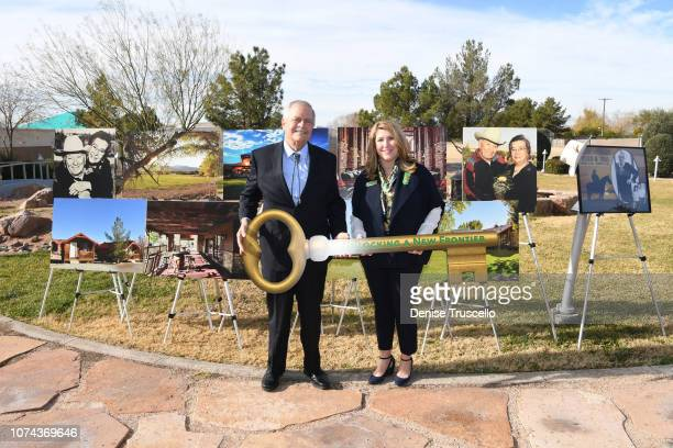 Trustree of the Charles and Phyllis M Frias Charitable Trust John H Mowberay and CEO of Girl Scouts Of Southern Nevada Kimberly Trueba pose for photo...