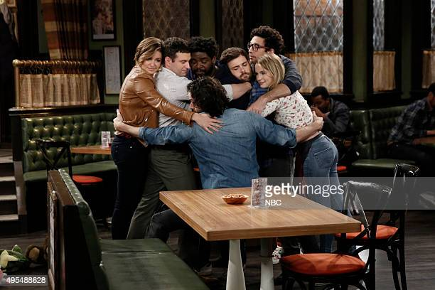 UNDATEABLE A Truth Hug Walks Into a Bar Episode 304A Pictured Bianca Kajlich as Leslie Brent Morin as Justin Ron Funches as Shelly Chris D'Elia as...