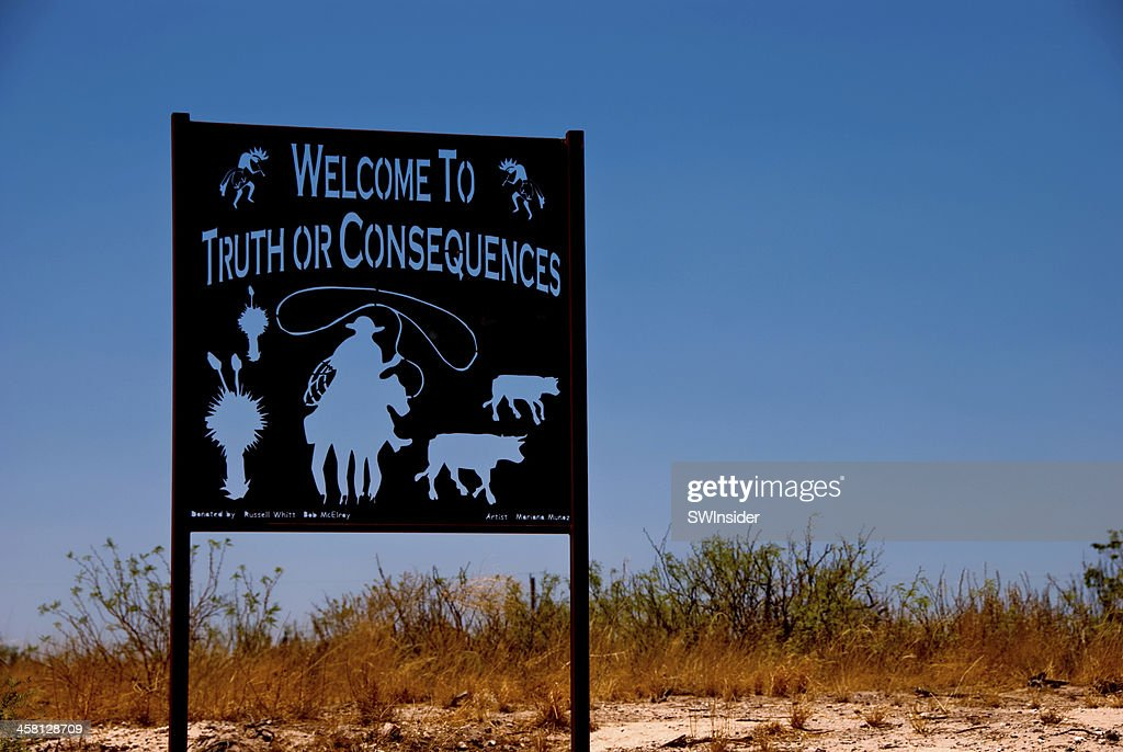 Truth or Consequences, New Mexico Welcome Sign : Stock Photo
