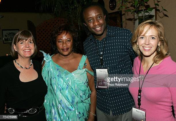 Truus Bos Imaculee Mukanyonza writer JB Rutagarama and producer Linda Vester at the reception of Back Home during AFI FEST 2006 presented by Audi...