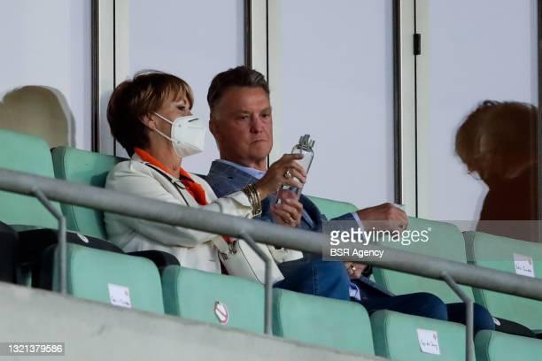 Truus van Gaal and Louis van Gaal look on during the International Friendly match between Netherlands and Scotland at Algarve Stadium on June 2, 2021...