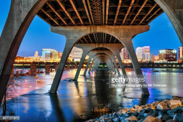 try to remember - bridge to richmond - richmond virginia stock pictures, royalty-free photos & images