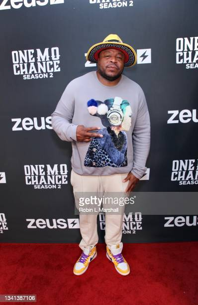 """Tryf Da Comedian attends Zeus Network's """"One Mo Chance"""" Season 2 Premiere at AMC Universal at City Walk on September 19, 2021 in Universal City,..."""