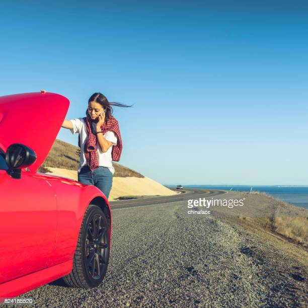 trying to fix the car - broken down car stock pictures, royalty-free photos & images