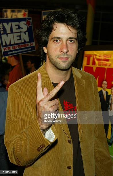 Tryo Garity arrives to the premiere of United Artists' film The Yes Men on the opening night of the Silver Lake Film Festival at the ArcLight...