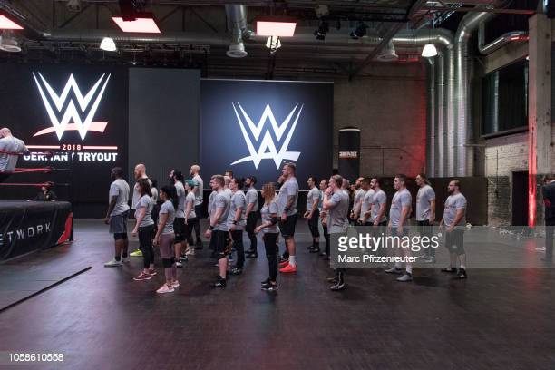Tryout talents at the WWE Live Tryout at the Motorworld on November 7 2018 in Cologne Germany