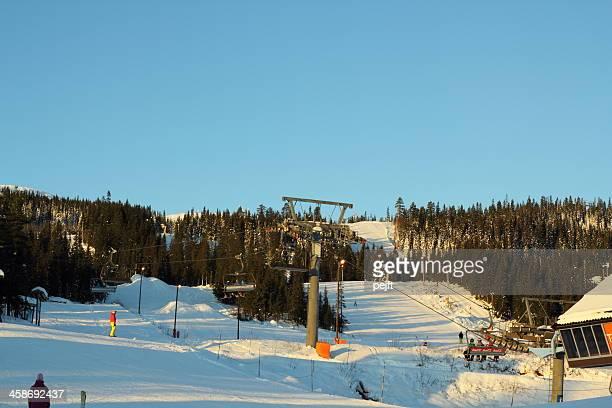 trysil ski resort, norway - pejft stock pictures, royalty-free photos & images