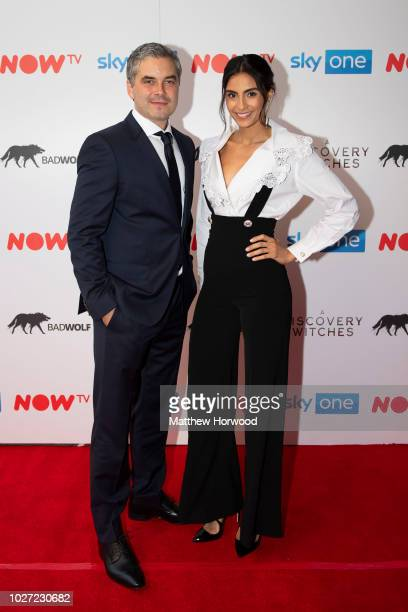 Trystan Gravelle and Aiysha Hart attend the UK Premiere of 'A Discovery Of Witches' at Cineworld on September 5 2018 in Cardiff Wales
