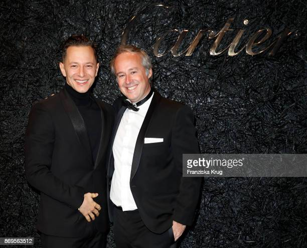 Trystan Puetter and Managing Director Cartier Northern Europe Renaud Lestringant attend the When the Ordinary becomes Precious #CartierParty at Old...