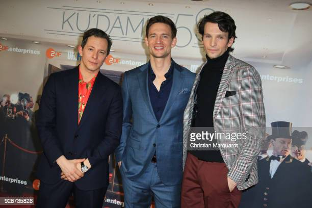 Trystan Puetter August Wittgenstein and Sabin Tmbrea attend the premiere of 'Ku'damm 59' at Cinema Paris on March 7 2018 in Berlin Germany