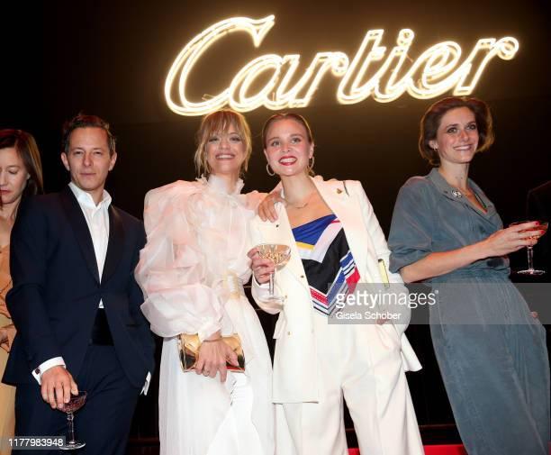 "Trystan Puetter, Heike Makatsch, Sonja Gerhardt, Miriam Stein, during the ""Clash de Cartier - The Opera"" event at Eisbachstudios on October 24, 2019..."