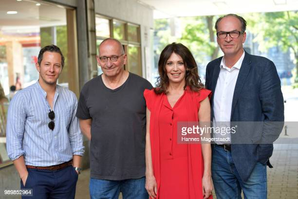 Trystan Puetter Iris Berben Dominik Graf and Herbert Knaup attend the premiere of the movie 'Hanne' as part of the Munich Film Festival 2018 at...