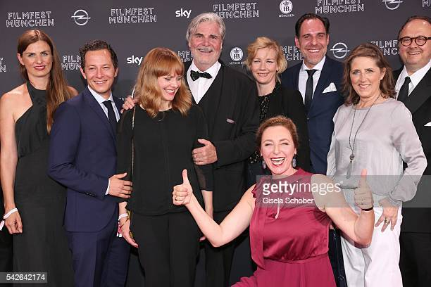 Trystan Puetter Maren Ade Peter Simonischeck Sandra Hueller Thomas Loibl and Diana Iljine during the opening night of the Munich Film Festival 2016...