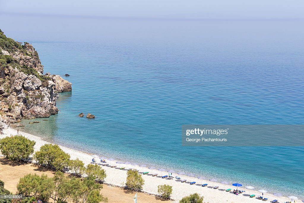 Tsabou beach on Samos island : Stock Photo