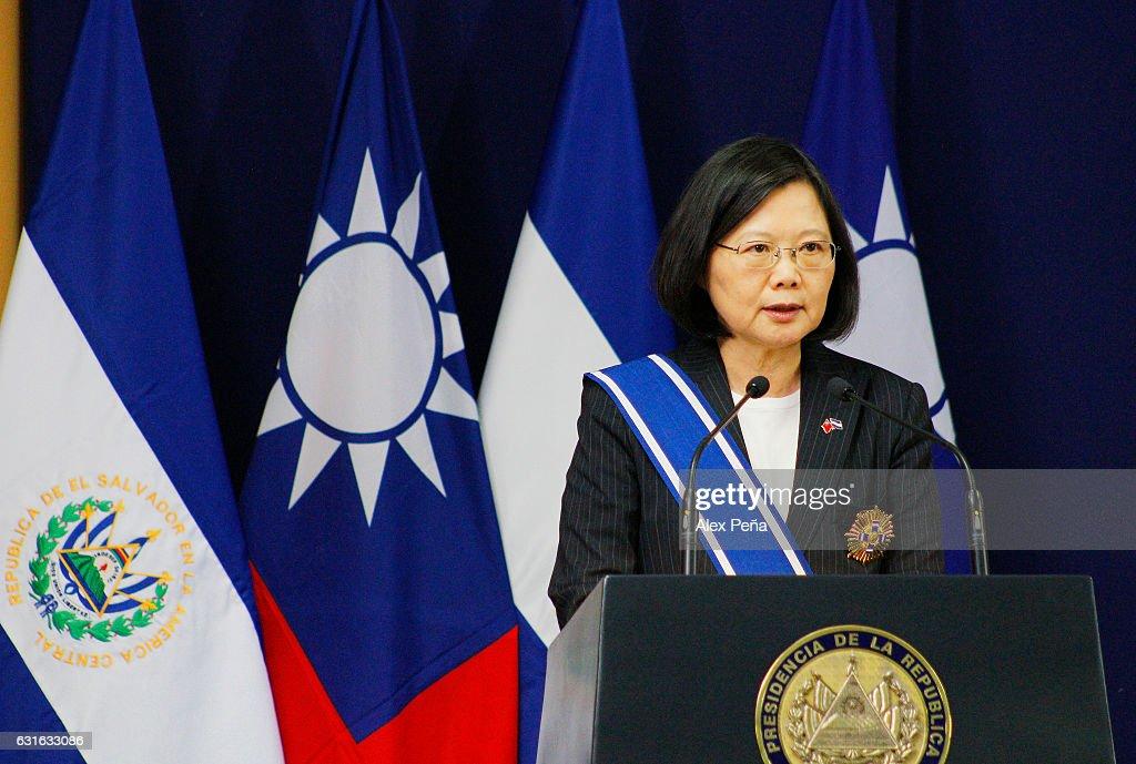 President of Taiwan Tsai Ing-Wen Visits El Salvador : News Photo