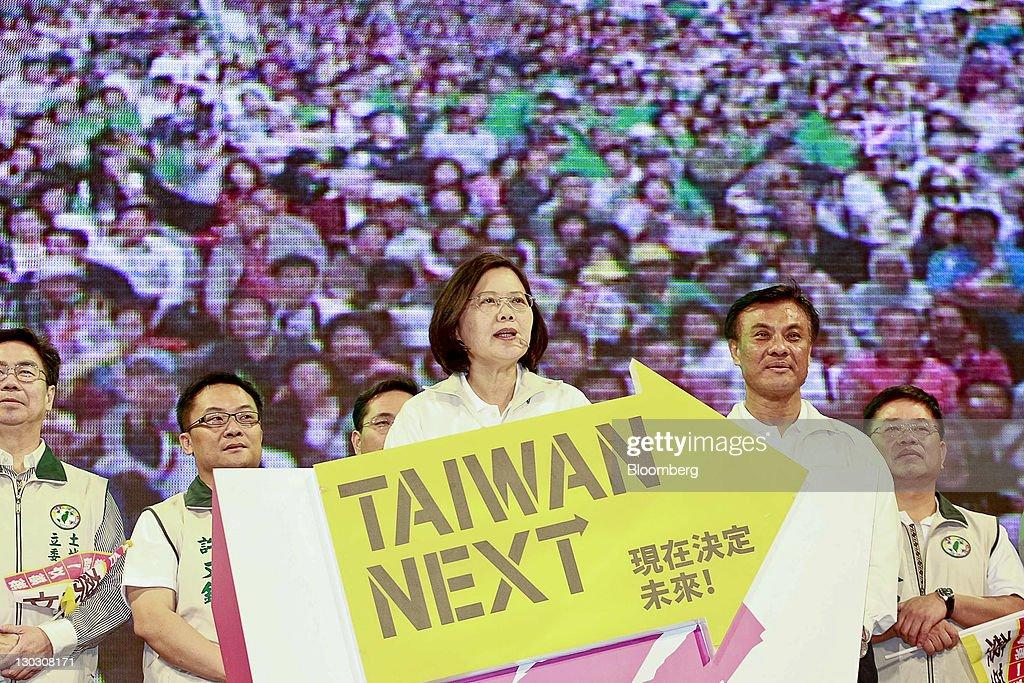 Taiwan Democratic Progressive Party Campaign : Nieuwsfoto's