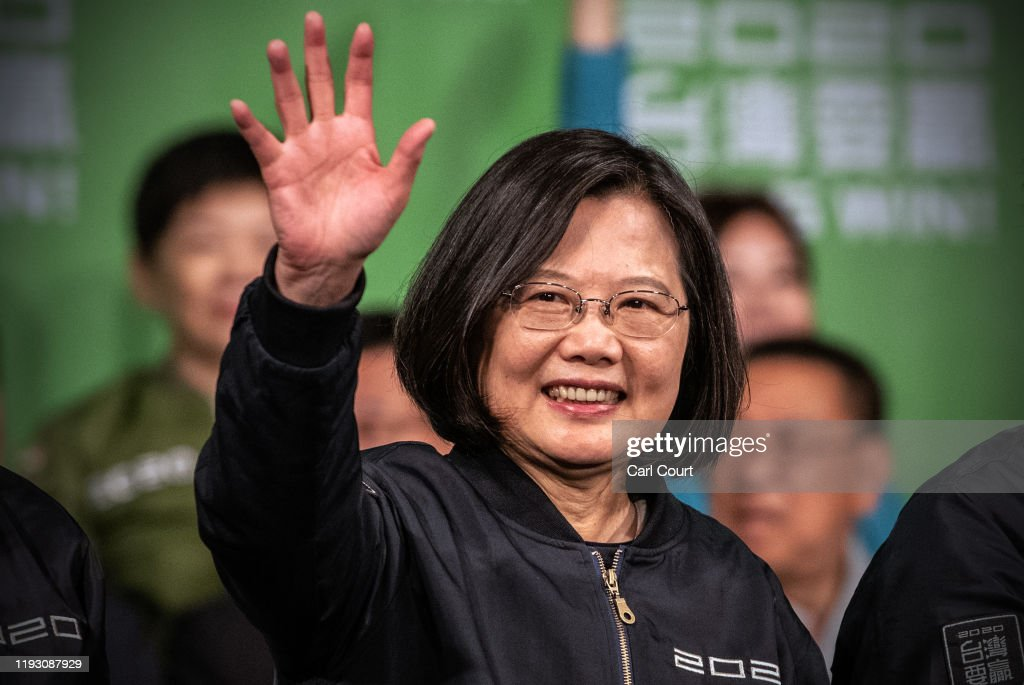 Tsai Ing-wen Wins Taiwan Presidential Election : ニュース写真
