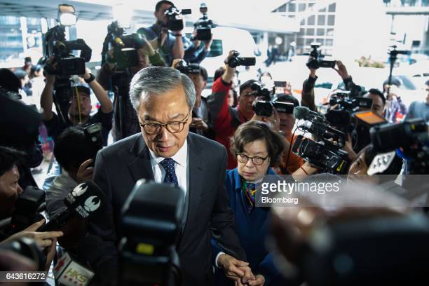 Tsang Yampui brother of Hong Kong's former chief executive Donald Tsang and Hong Kong's former police commissioner center arrives at the High Court...