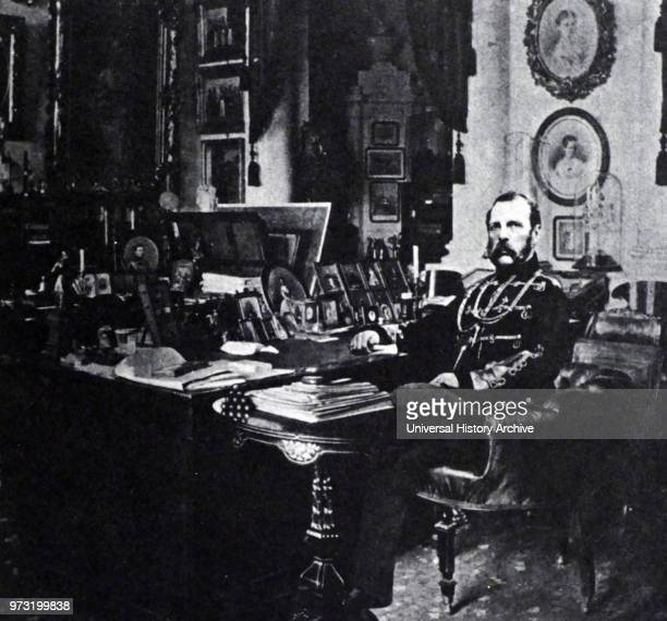 Tsar Alexander II of Russia Emperor of Russia in his study approx 1875