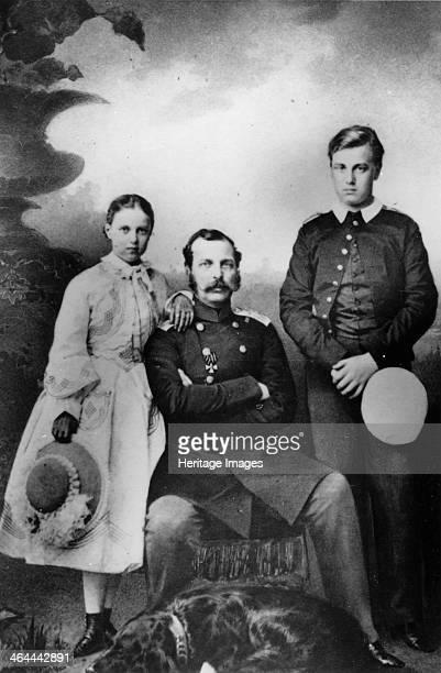Tsar Alexander II of Russia with his daughter Maria and son Alexei 1863 Grand Duke Alexei Alexandrovich and Grand Duchess Maria Alexandrovna were the...