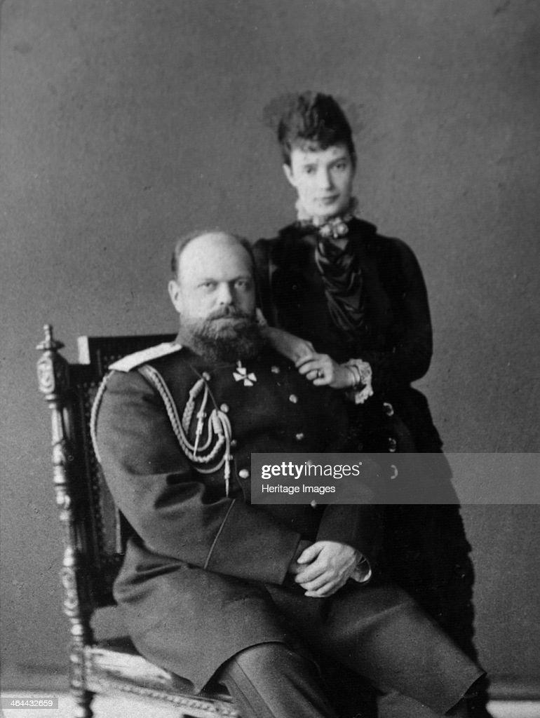 Tsar Alexander III and Tsarina Maria Fyodorovna of Russia, 1880s. : News Photo