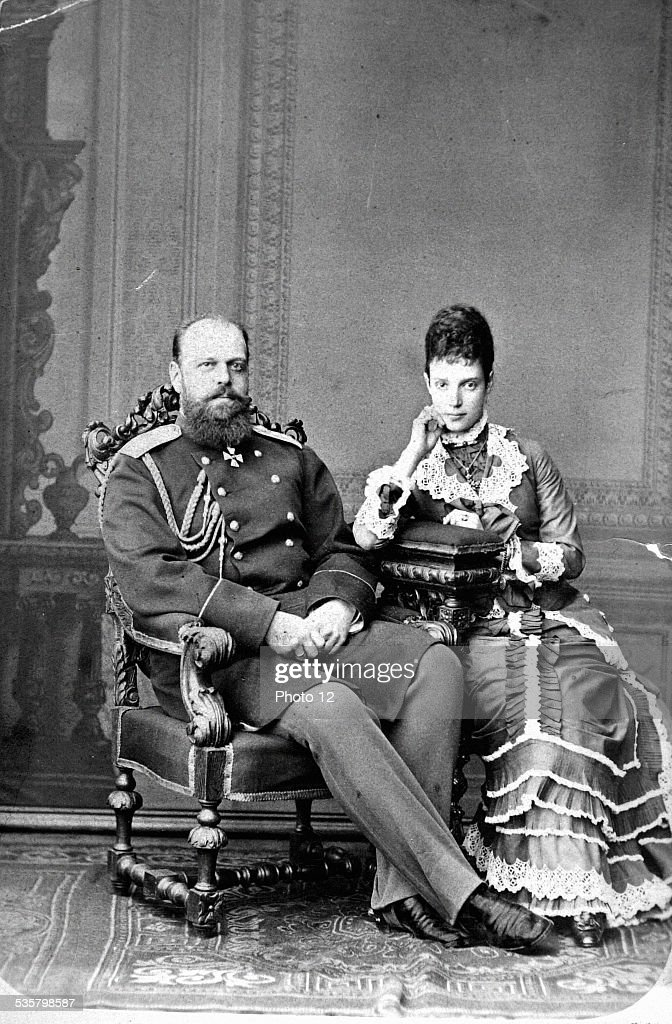 Tsar Alexander III of Russie and Tsarina Maria Feodorovna : News Photo