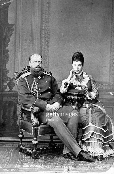 Tsar Alexander III of Russia and Tsarina Maria Feodorovna Married in Saint Petersburg in 1866