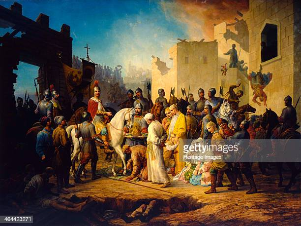 'Tsar Ivan IV Conquering Kazan in 1552' 1894 Kazan the capital of the Tatar Khanate of Kazan fell to the Russian army of Ivan the Terrible after a...