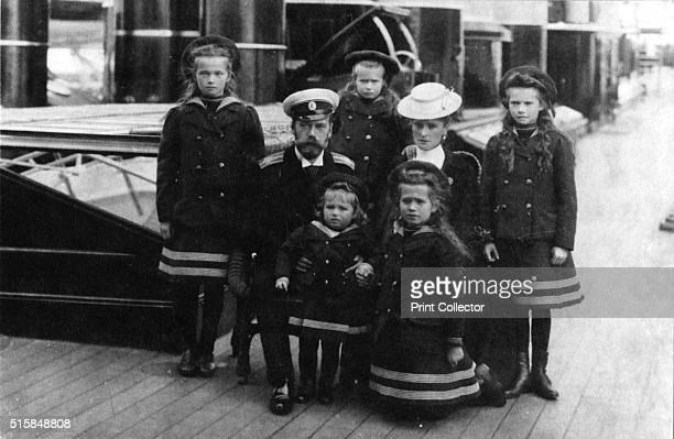 Tsar Nicholas II and Tsarina Alexandra of Russia and their children 1907 The Russian royal family on their yacht the Polar Star From the left...