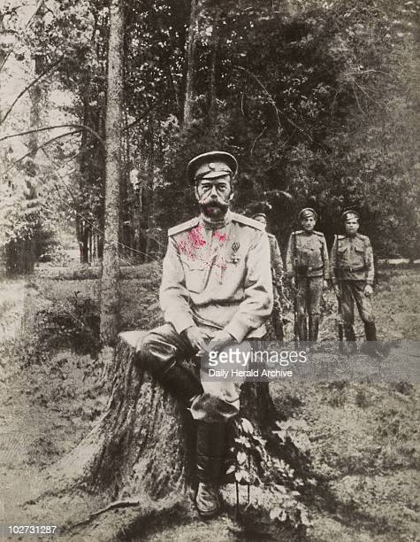 "Tsar Nicholas II just before he was shot Ekaterinburg Russia July 1918 'The Tsar ""the Little Father"" as a captive of the Bolsheviks at Ekaterinburg..."