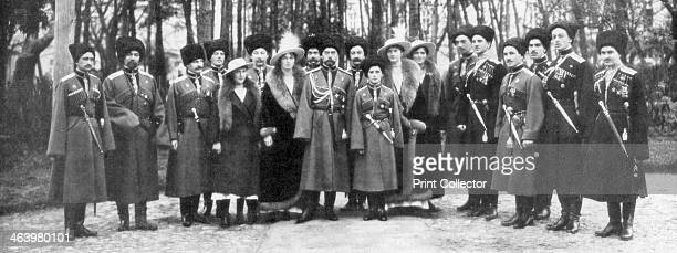 Tsar Nicholas II of Russia and his family before abdication 1917 Nicholas and his family were assassinated by the Bolsheviks less than a year later