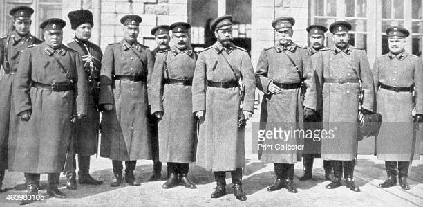Tsar Nicholas II of Russia and his generals and staff 1917 Nicholas and his family were assassinated by the Bolsheviks less than a year later