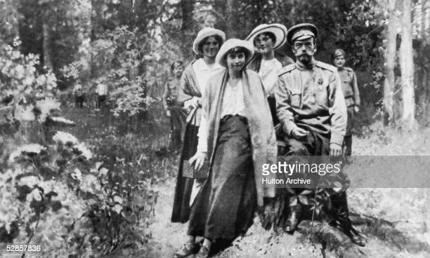 Tsar Nicholas II of Russia and members of his family during their captivity in Tobolsk from September 1917 to April 1918