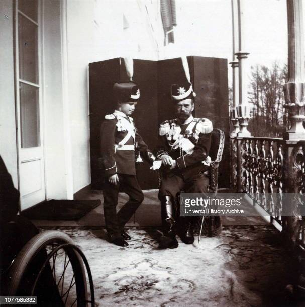 Tsar Nicholas II of Russia with his son Alexei the Tsarevich Alexei Nikolaevich the Tsarevich of the Russian Empire He was the youngest child and...