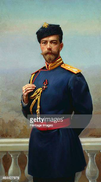 Tsar Nicholas II of Russia with the Cross of Saint Vladimir 1905 Nicholas succeeded his father Alexander III as Emperor of Russia in 1894 He was...
