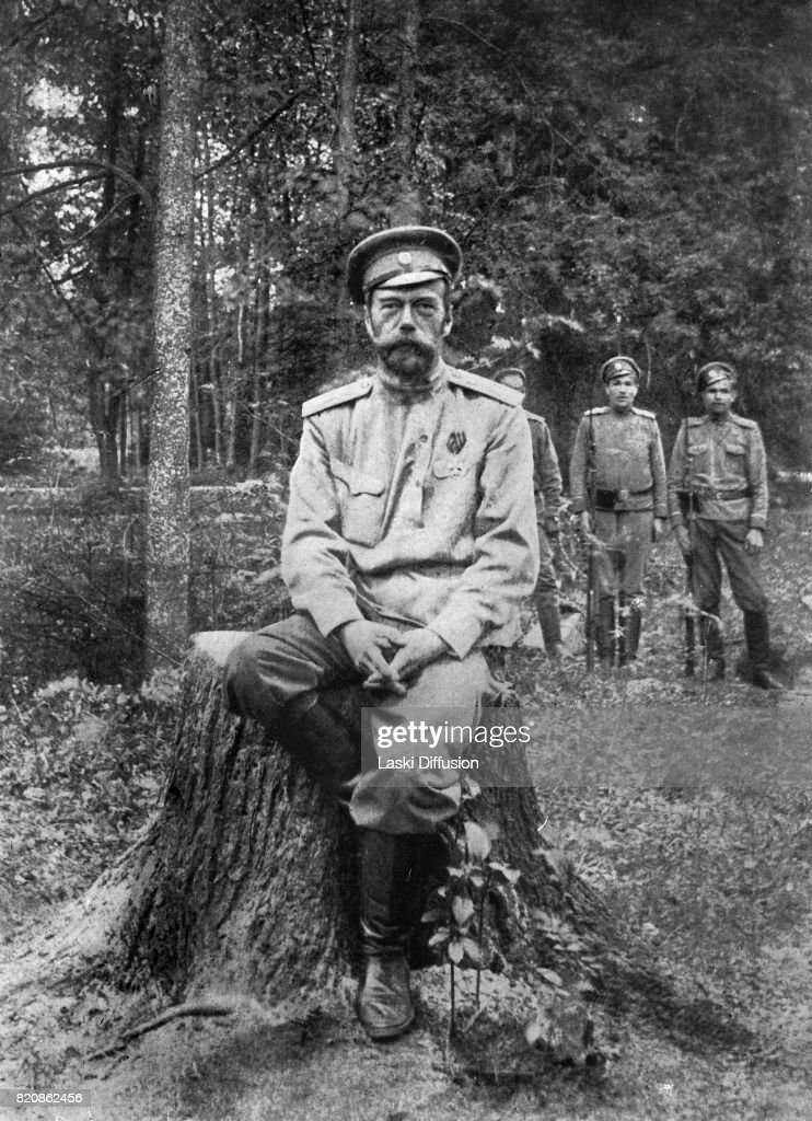 Tsar Nicholas II Romanov after his abdication. Tsarskoye Selo, Russia, March 1917.