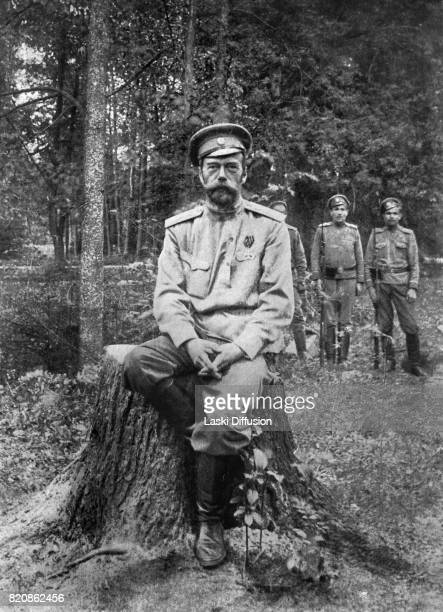 Tsar Nicholas II Romanov after his abdication Tsarskoye Selo Russia March 1917