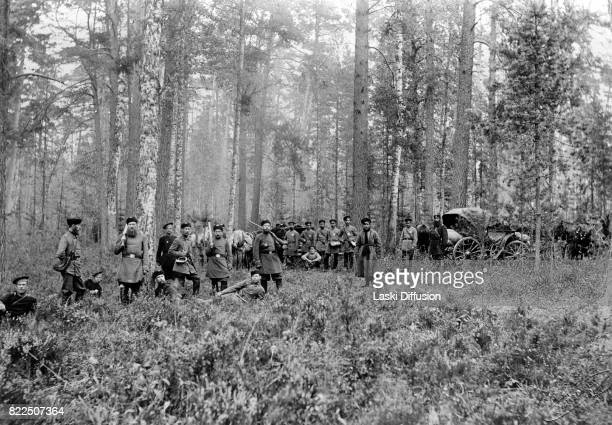 Tsar Nicholas II Romanov of Russia during a hunting expedition in the Bialowieza Forest Russian Empire 1897