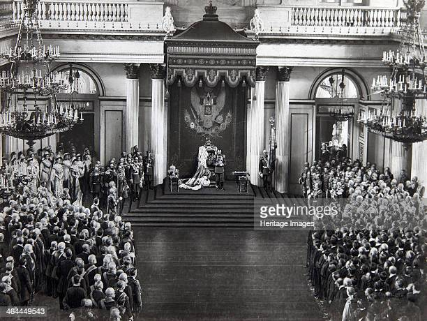 Tsar Nicholas II speaking at the opening of the first Duma St Petersburg Russia 27 April 1906 The Duma the elected legislative assembly of the...