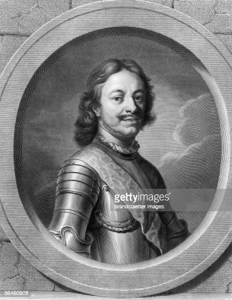 Tsar Peter I the Great Copper engraving Russia [Zar Peter I der Grosse Kupferstich Russland]