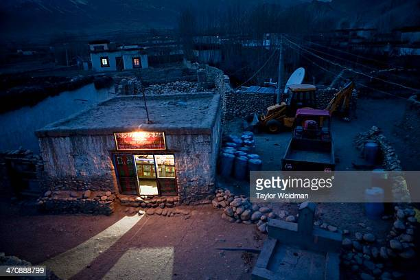 Tsarang is the second biggest town in Upper Mustang and has installed a small hydroelectric generator which operates for a few hours every night...