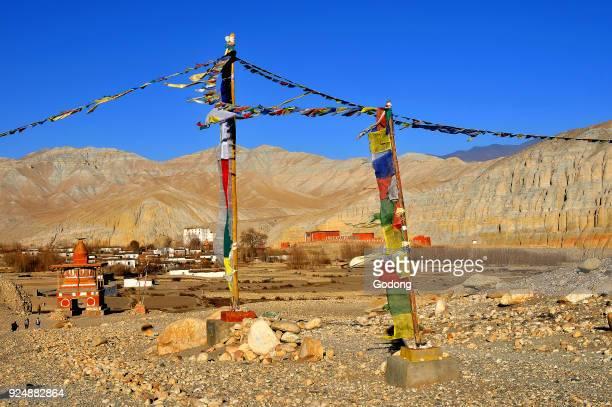Tsarang village near Lo Manthang Mustang Nepal