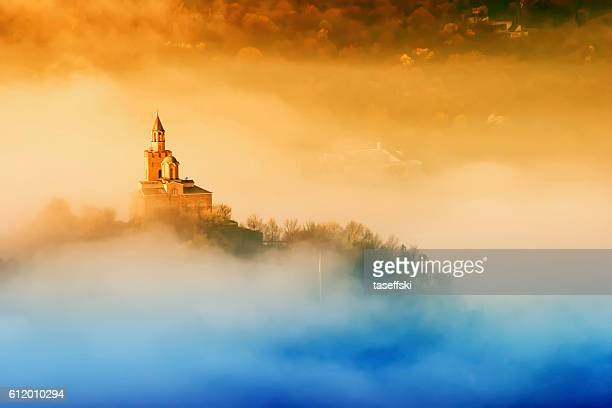 tsarevets fortress in veliko turnovo, bulgaria - castle stock photos and pictures