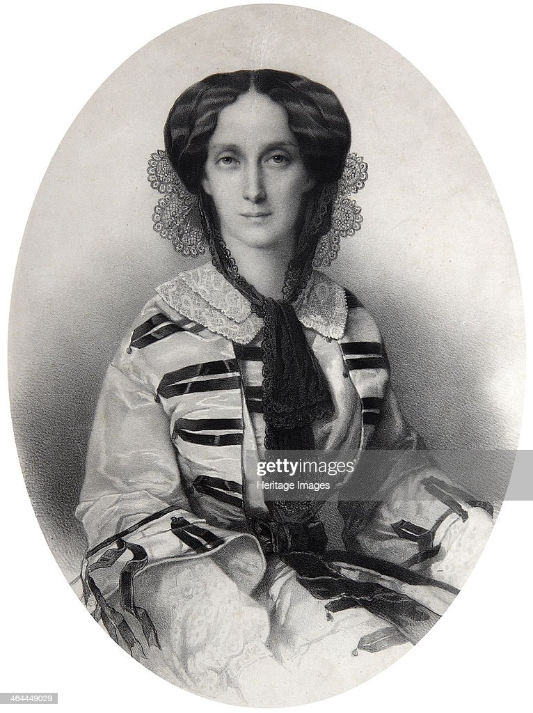 Tsarina Maria Alexandrovna of Russia, 1860. Artist: Andrei Deniere : News Photo