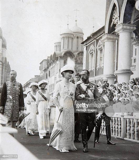 Tsar's family at the celebrations of the 300th anniversary of the House of Romanov Russia 1913 At the Kemlin Moscow led by Tsar Nicholas II and...