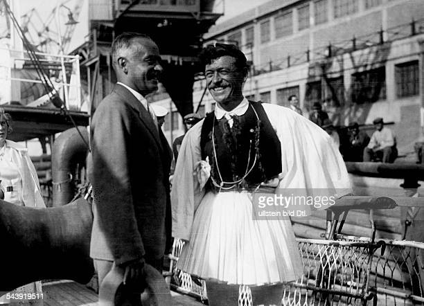Tschammer und Osten Hans von Politician NSDAP Germany*25101887during a promotional journey to Athens 1935 Photographer Heinrich Hoffmann Published by...
