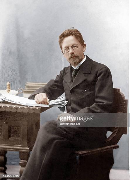 Tschechow Anton Writer Russia*18601904 Portrait 1901Digitally colorized Original image no 00020905