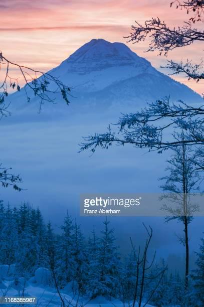 ötscher mountain massif in winter, austria - franz aberham stock photos and pictures