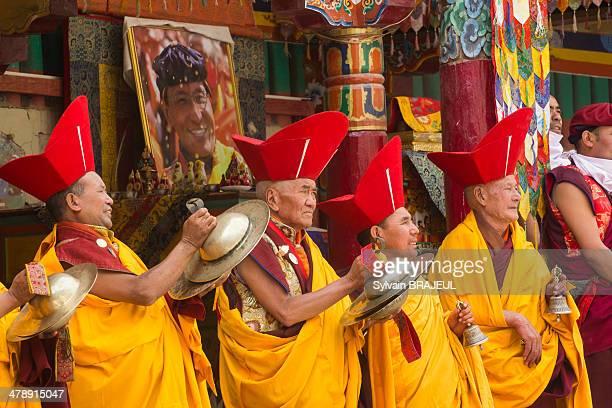 CONTENT] Tse Chu dance mask festival in Hemis Festival inside the gompa of Hemis in Ladakh North west India