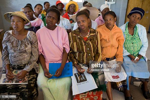 Tsepang Lebete Aged 19 is HIV positive and pregnant Here she attends a antenatal session for pregnant women in Thabana Morena clinic The group is...